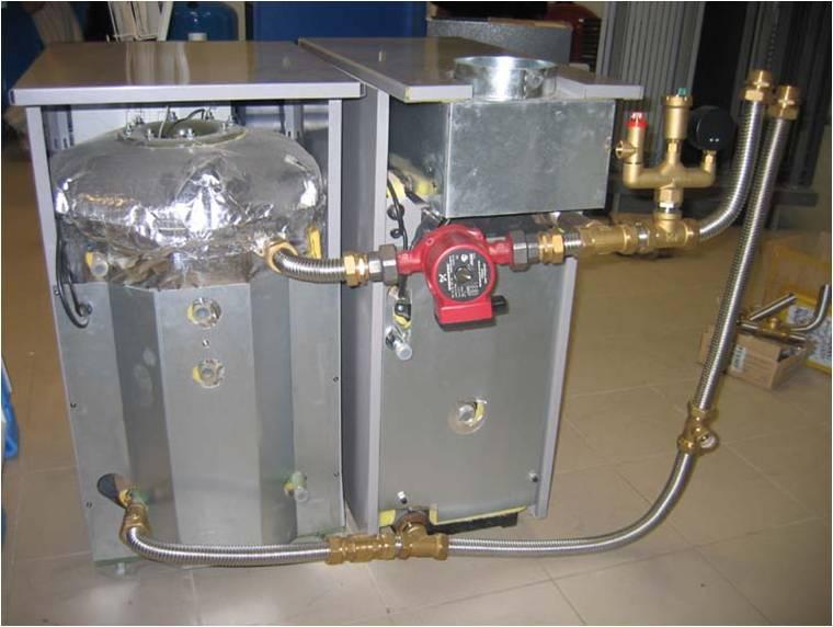 Гофрированные труба из нержавеющей стали KOFULSO при монтаже котельного оборудования